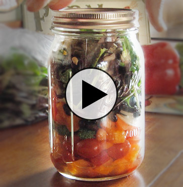 For the Love of Food – Salad in a Jar!