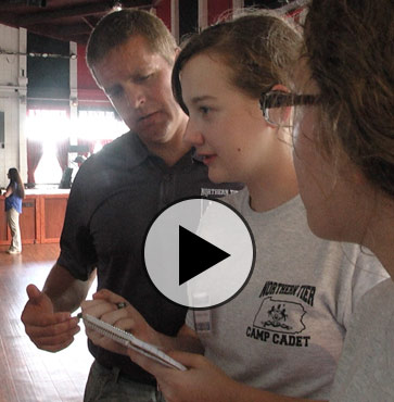 Area Youth Receive Officer Training